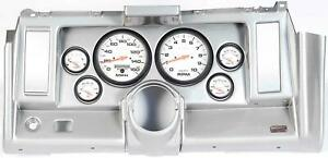 69 Camaro Silver Dash Carrier W Auto Meter Phantom Electric 5 Gauges