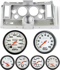 69 Camaro Silver Dash Carrier W Auto Meter Phantom Mechanical 5 Gauges