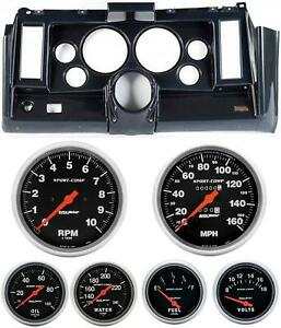 69 Camaro Carbon Dash Carrier W Auto Meter Sport Comp Mechanical 5 Gauges