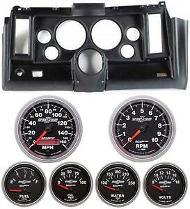 69 Camaro Black Dash Carrier W Auto Meter Sport Comp Ii 5 Gauges