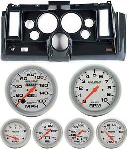 69 Camaro Carbon Dash Carrier W Auto Meter Ultra Lite Mechanical 5 Gauges