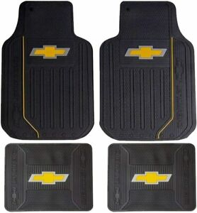 New Chevy Factory Style Front Rear All Weather Rubber Floor Mats Made In U S A
