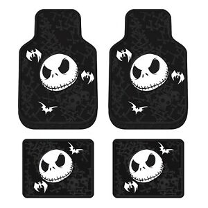New 4pcs Nightmare Before Christmas Jack Rubber Front Back Car Truck Floor Mats