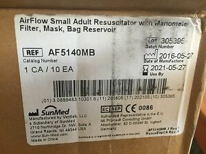 Manual Resuscitator Bvm Airflow Small Adult Mask O2 Bag Filter 800cc 10 Pc