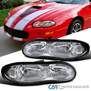 Headlights For 98 02 Chevy Camaro Z28 Clear Replacement Driving Lamps Pair