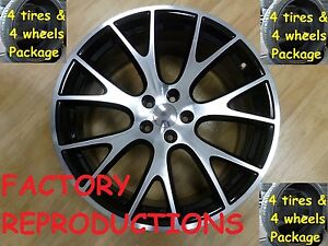 22 Hellcat Style Jeep Grand Cherokee Tires Wheels Rims Set Package Machined