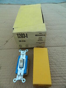 Box Of 10 Hubbell 1203 i Ivory Vintage 3 way Toggle Switches New In Box