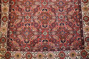 C1930s Antique Highly Detailed Kork Wool Prsian Bijar Rug 2 5x3 4 Village Woven