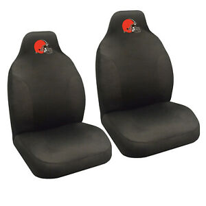 New Nfl Cleveland Browns 2 Front Universal Fit Car Truck Bucket Seat Covers