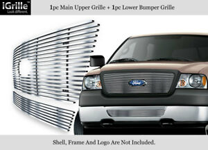 For 2006 2008 Ford F 150 Honeycomb Style Stainless Steel Billet Grille Combo