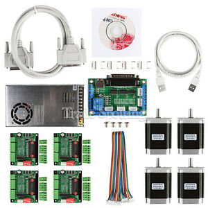 Cnc 4 axis Kit 1 With Tb6560 Motor Driver Breakout Board Nema23 270 Oz in Motor