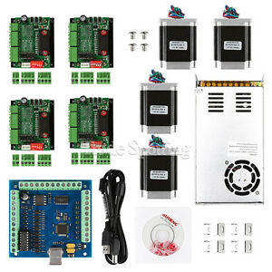 Cnc 4 axis Kit 2 With Tb6560 Motor Driver Usb Controller Card 270 Oz in Nema23