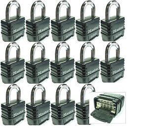 Combination Lock Set By Master 1178d lot 14 Resettable Weather Sealed Carbide