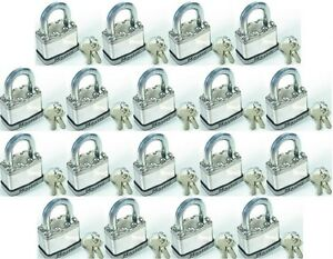 Lock Sey By Master M1ka lot Of 18 Keyed Alike Magnum Stainless Carbide
