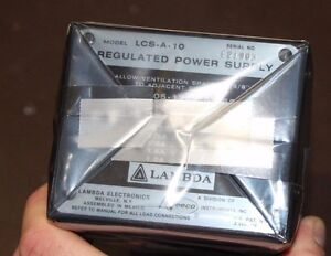 Veeco Lambda Regulated Power Supply Lcs a 10 Military Aircraft Aarr