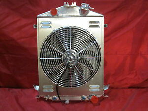 1928 1929 1930 1931 Ford Model A Street rat Rod Aluminum Radiator Chevy V8