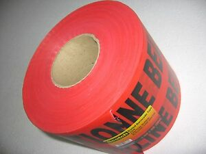 Caution Buried Electric Line Below 6 X 1000 Roll Red Black 3m Barricade Tape