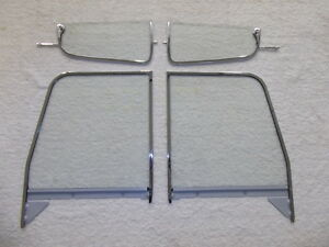 Chevy Gmc Pickup Glass 1955 1956 1957 1958 1959 Truck Vent Door Assembled Clear