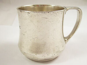 Tiffany Co Vintage Sterling Silver Baby Cup