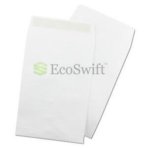 1 1000 ecoswift White Self seal Catalog Kraft Paper Envelope 28 Lb 6 X 9