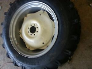 Two 12 4x28 Massey Ford R 1 Tractor Tires For Replacement Spin Out Wheels