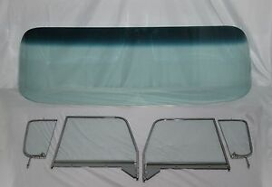 Glass 1955 1959 Chevy Pickup Gb Windshield Clear Vent Door Assembled