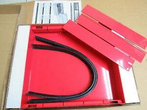 615 Weather Guard Steel Tool Box Tray Red W Dividers New In Box