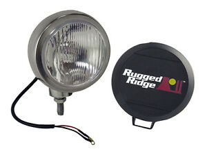 Rugged Ridge 5 In Round Hid Off Road Fog Light Stainless Steel Housing 15206 02