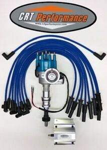 Ford 351c 351m 400 429 460 Small Hei Distributor Blue 60k Coil Plug Wires