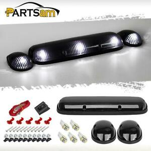 3xsmoke Cab Roof Top Clearance Lights W5w 5050 White Led For 02 07 Chevrolet Gmc