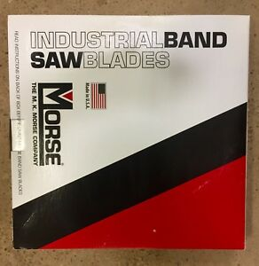 Mk Morse 93 X 3 4 Bandsaw Blades Carbon Metal 18 Tpi For Metalworking 2 Pack