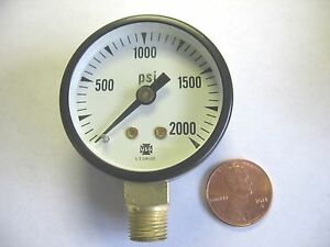 Lot Of 3 Ametek 1 1 2 Face 0 2000 Psi Pressure Gage P500 1 8 Npt Us Gauge