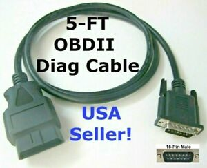 5ft Obd2 Obdii Cable For Cen Tech Centech Code Scanner Scan Tool 98614 And 99722