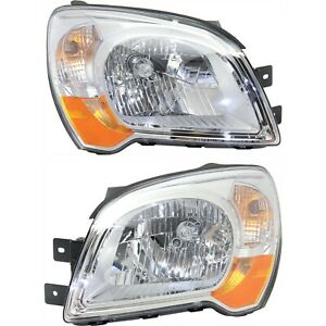 Headlight Set For 2005 2010 Kia Sportage Left And Right With Bulb Type 2 2pc