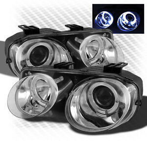 For 1998 2001 Acura Integra Twin Halo Projector Headlights Head Lights