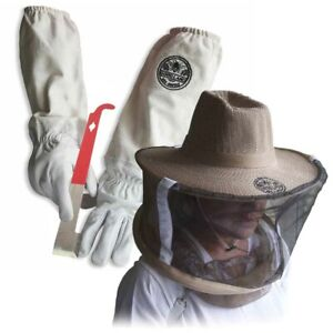 Cotton Sheepskin Beekeeping Large Gloves W Vail j hook Tool Gl glv jhk vl lg