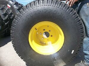 Two New 13 6x16 Carlisle John Deere 650 750 4 Ply Turf Tractor Tires On Wheels