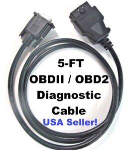 5ft Obdii Obd2 Cable For Techmate J 50190 Signal Tech Ii Tech2 Tpms Scan Tool