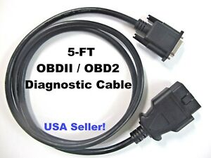 5ft Obdii Obd2 Cable For Kent Moore J 50190 Signal Tech Ii Tech2 Tpms Scan Tool