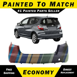 New Painted To Match Rear Bumper Cover For 2009 2014 Honda Fit 04715tk6a91zz