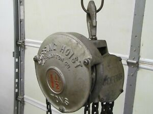 1 1 2 Ton Coffing Cb 40 Manual Chain Hoist 8 Of Lift 3000 Lb Capacity