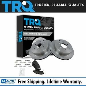 Trq Brake Rotor Posi Ceramic Pad Rear Kit For Xterra Frontier Truck