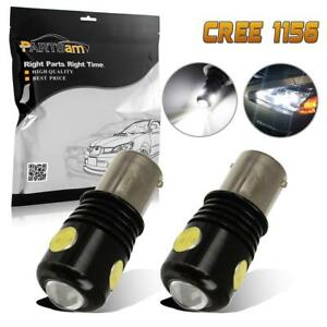2x 1156 Cree Cob Daytime Running Light Drl Bulbs Cool White Projector Led