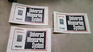 Chief Mechanical Frame Measuring Data Book Binders Collision Autobody Set Of 3