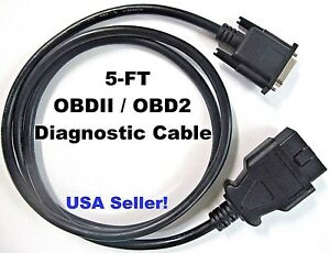 Obdii Obd2 Cable For Bartec Usa Tech400sd Or Tech500 Tpms Activation Scan Tool