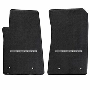 Lloyd Mats Ultimat 2 Piece Front Floor Mat Set Ebony 2010 2015 Camaro Logo