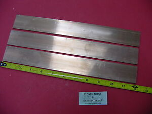 3 Pieces 1 8 x 1 1 2 C110 Copper Bar 12 Long Solid Flat Mill Bus Bar Stock H02