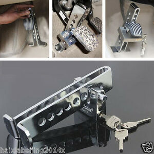 Auto Car Clutch Brake Lock Stainless Steel Anti theft Security Supplies Device