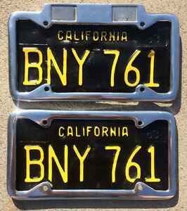 California License Plate Frame In Stock Replacement Auto