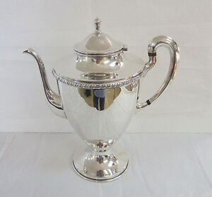 Conquistador Sterling Silver Coffee Server 925 Coffee Pot Free Shipping